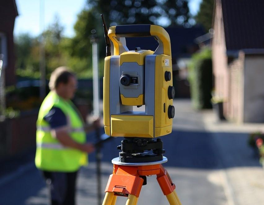 Close-up image of RWB Group's surveying equipment.
