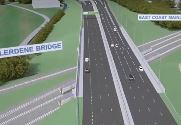 Planning to Start for the £300m A1 Widening Around Gateshead